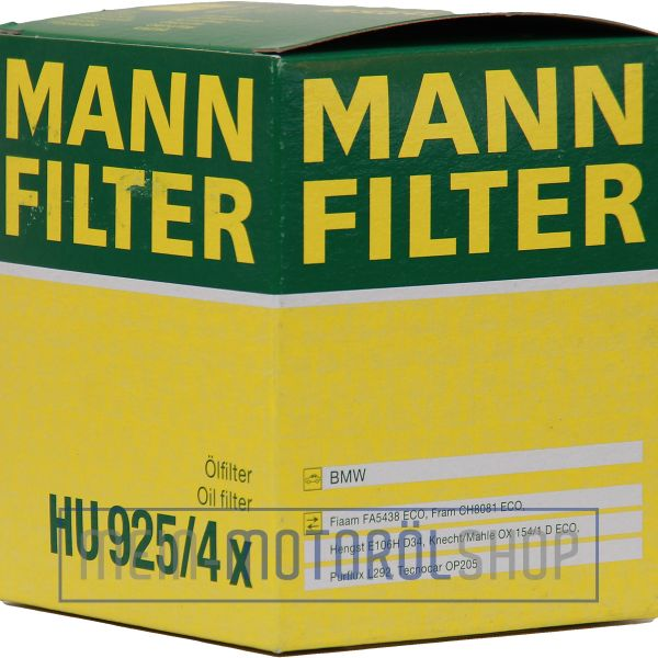 Original MANN Filter Ölfilter HU 925/4x BMW E36 E38 E39 E46 E60 Z3 Z4 X3 X5 7er