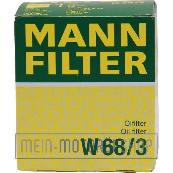Original MANN Filter Ölfilter W 68/3 TOYOTA CITROEN PEUGEOT DAIHATSU