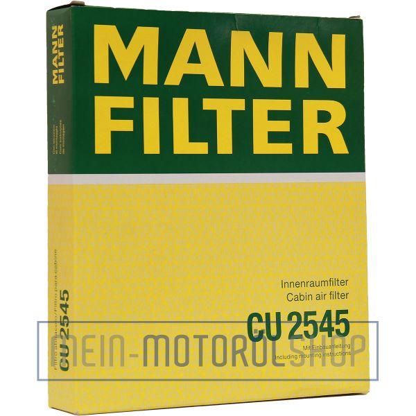 Original MANN-FILTER FILTER INNENRAUMLUFTFILTER CU 2545 SEAT IBIZA VW FOX POLO