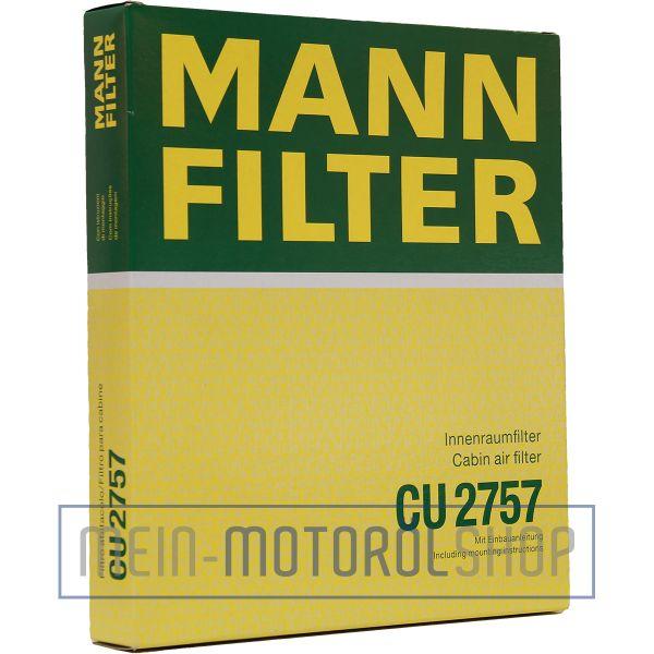 Original MANN-FILTER FILTER INNENRAUMLUFTFILTER CU 2757 OPEL ASTRA ZAFIRA