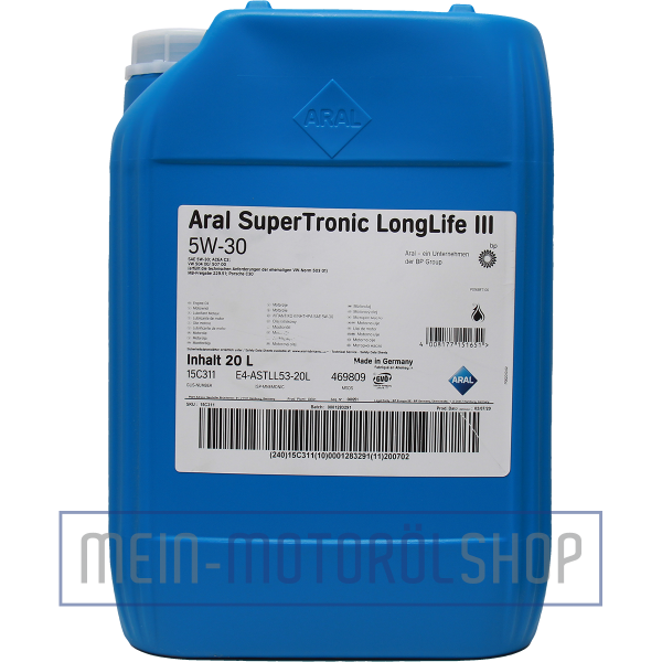 14AF40_4008177151651_Aral_SuperTronic_LongLife_3_5W-30_20 Liter