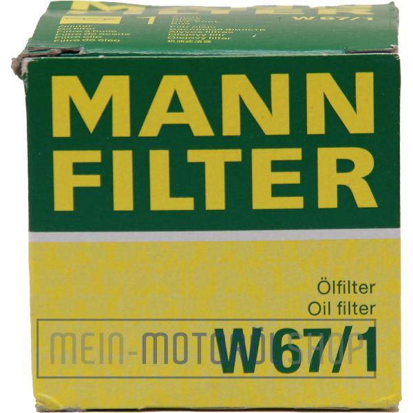 Original Ölfilter MANN-FILTER W 67/1 passend für FORD HONDA ISUZU MAZDA MITSUBISHI VOLVO