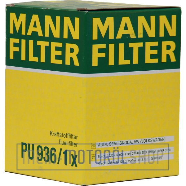 Original MANN-FILTER KRAFTSTOFFFILTER PU 936/1 X AUDI A3 VW CADDY GOLF 5 GOLF 6