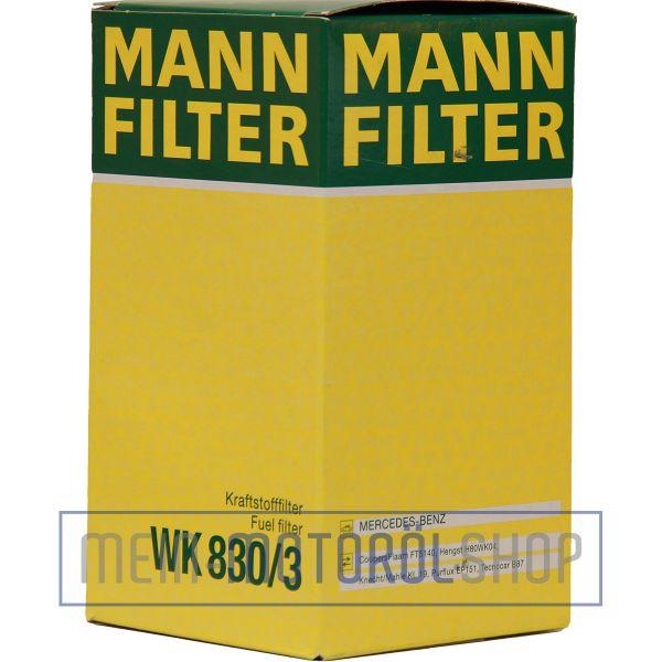 Original MANN-FILTER KRAFTSTOFFFILTER WK 830/3 MERCEDES BENZ C KLASSE