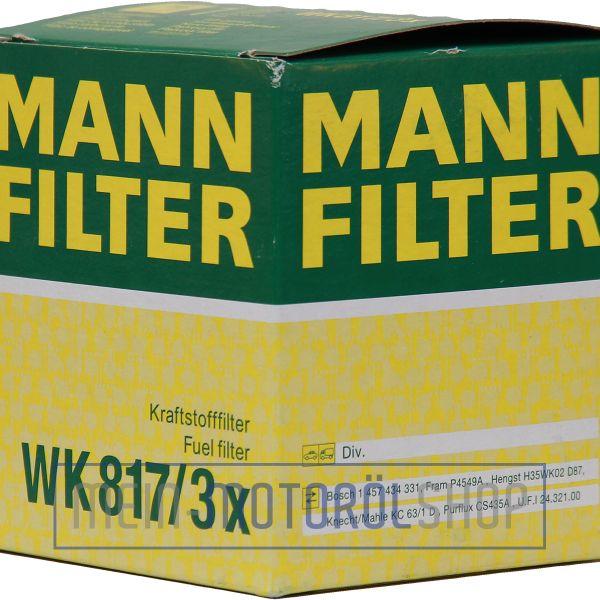 Original MANN-FILTER KRAFTSTOFFFILTER WK 817/3 X MERCEDES BENZ SPRINTER C KLASSE