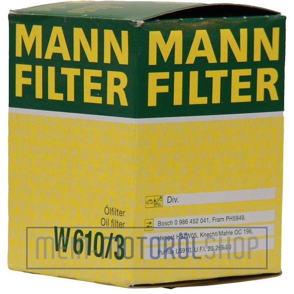 Original MANN Filter Ölfilter W 610/3 ALFA ROMEO FIAT FORD HONDA KIA MAZDA OPEL
