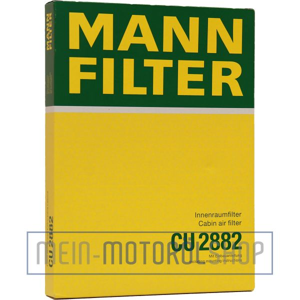 Original MANN-FILTER FILTER INNENRAUMLUFTFILTER CU 2882 AUDI A3 VW GOLF 3 LUPO PASSAT