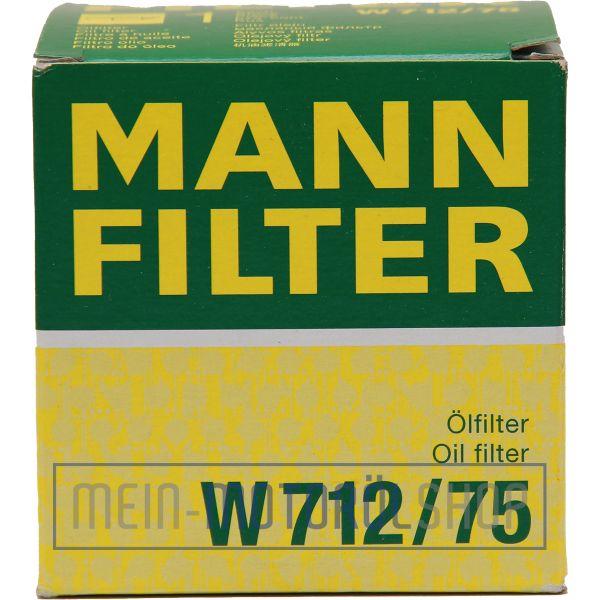 Original MANN Filter Ölfilter W 712/75 DAEWOO OPEL LOTUS SAAB CHEVROLET