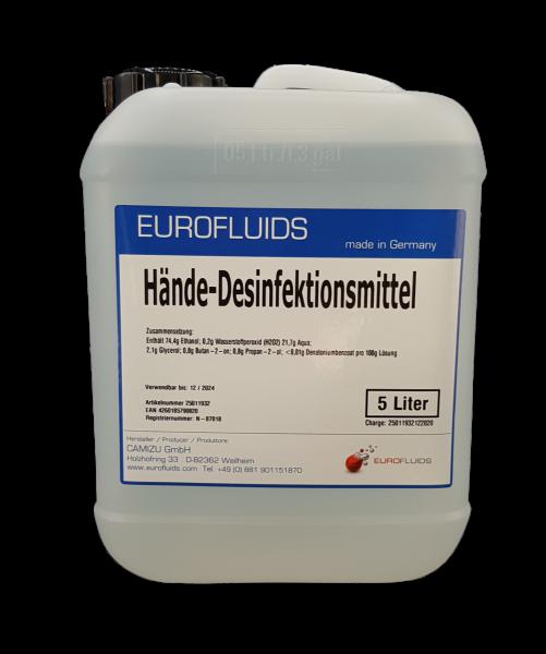 SONDERPREIS & LIMITIERT - Eurofluids Desinfektionsmittel gegen Viren & Bakterien